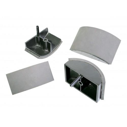 Plateaux inferieurs interchangeables pour la presse à casquette Secabo TCC